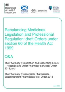 thumbnail of 19 June 2018 – Q&A for S60 Orders Consultation – Dispensing Errors and RPSP