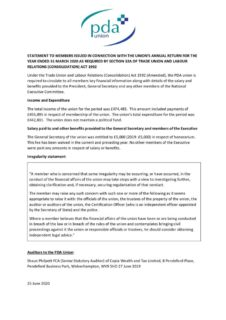 thumbnail of 2020 STATEMENT TO MEMBERS ISSUED IN CONNECTION WITH THE UNION