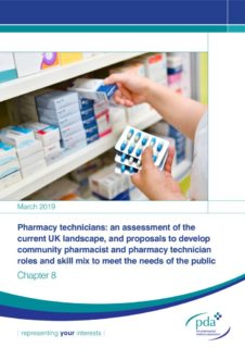 thumbnail of Chapter 8 – How the roles of pharmacists and pharmacy technicians in community pharmacy could be developed 25-02-2019