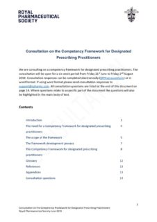 thumbnail of DPP COMPETENCY FRAMEWORK CONSULTATION DOCUMENT