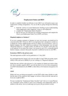 thumbnail of Employment Status and IR35