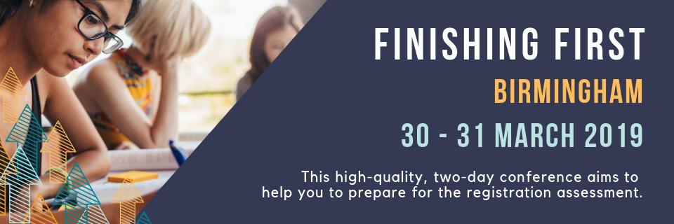 Finishing First Birmingham: 30 – 31 March 2019
