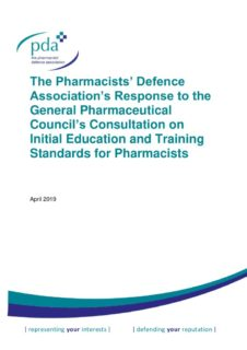 thumbnail of GPhC Pharmacist IET consultation response FINAL