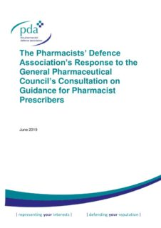 thumbnail of GPhC Pharmacist Prescribers consultation response FINAL