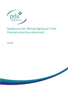 "thumbnail of Guidance on the ""Remote Signing on"" in the Pharmacy record by a pharmacist"