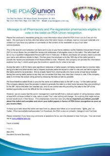 thumbnail of Letter to all Pharmacists – 21 January