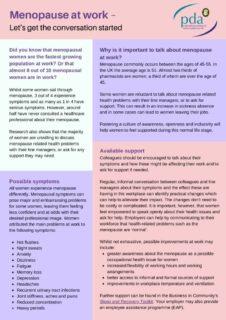 thumbnail of Menopause at work – NAWP