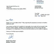 thumbnail of Minister for Health letter