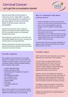 thumbnail of NAWP Cervical Cancer Factsheet