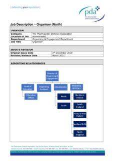 thumbnail of Organiser Job Description PDA Updated KR v2