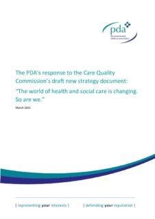 thumbnail of PDA CQC Consultation Response