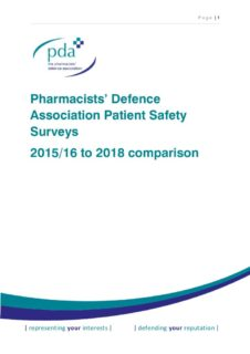 thumbnail of PDA Community Pharmacy Safety Surveys 2015-2018 – Comparison of Results