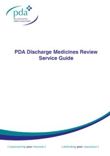 thumbnail of PDA Discharge Medicines Review Service Guide