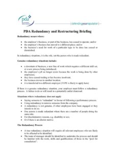thumbnail of PDA Redundancy and Restructuring Briefing 2019