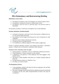 thumbnail of PDA Redundancy and Restructuring Briefing – October 2017