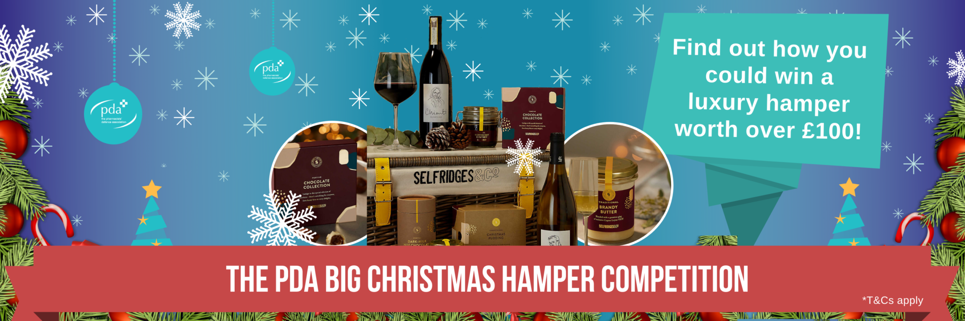 Find out how you could win a luxury Christmas hamper worth over £100!