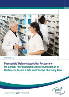 thumbnail of PDA response to GPhC Guidance for a Safe and Effective Pharmacy Team consultation