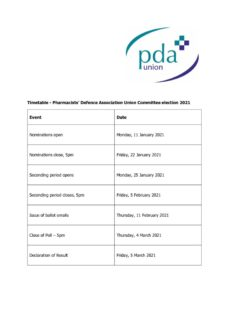 thumbnail of PDAU Committee Election 2021 Summary Timetable