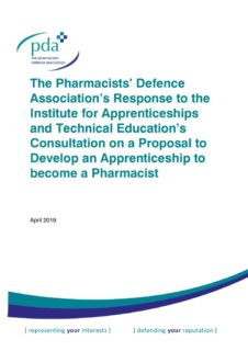 thumbnail of Pharmacist Apprenticeship Response 11.04.19
