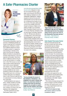 thumbnail of Safer Pharmacies Charter – Insight Jan 2020
