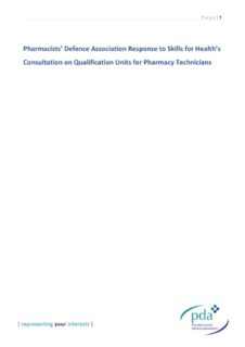 thumbnail of Skills for Health Qualification for Pharmacy Technicians Consultation Response 30-07-2018