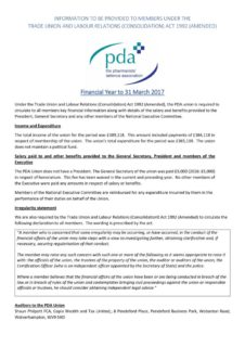 thumbnail of Statement to Members