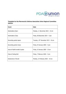 thumbnail of Summary Timetable Regional Committee By-election 2019 Final