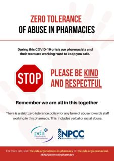 thumbnail of Zero tolerance for abuse posters – no image